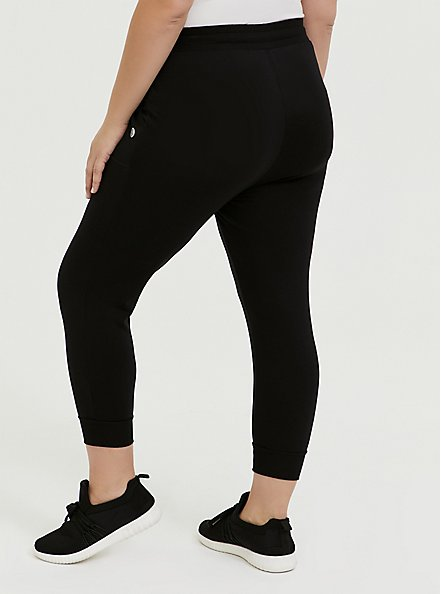 Black Active Crop Jogger, DEEP BLACK, alternate