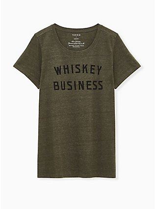Whisky Business Classic Fit Tee - Triblend Jersey Olive Green, DEEP DEPTHS, hi-res