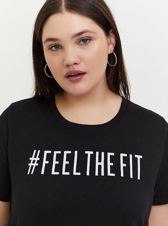 #FeelTheFit Black Crew Tee, , hi-res