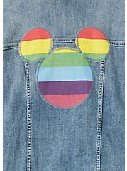 Disney Mickey Mouse Rainbow Denim Jacket - Medium Wash, MEDIUM WASH, alternate