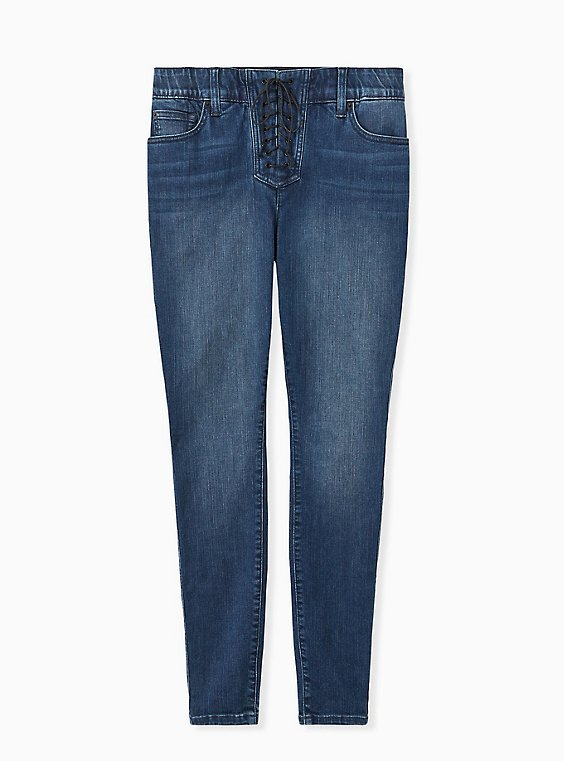 Bombshell Skinny Jean - Premium Stretch Medium Wash , THAMES, hi-res