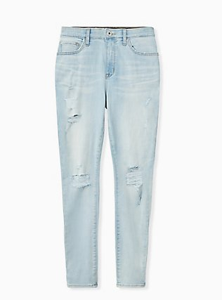 Sky High Skinny Jean - Super Soft Light Wash , MADE OF GLASS, hi-res