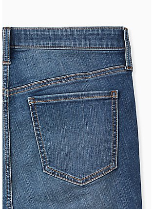 Crop Sky High Skinny Jean - Premium Stretch Medium Wash with Release Hem, BRIGHTON, alternate