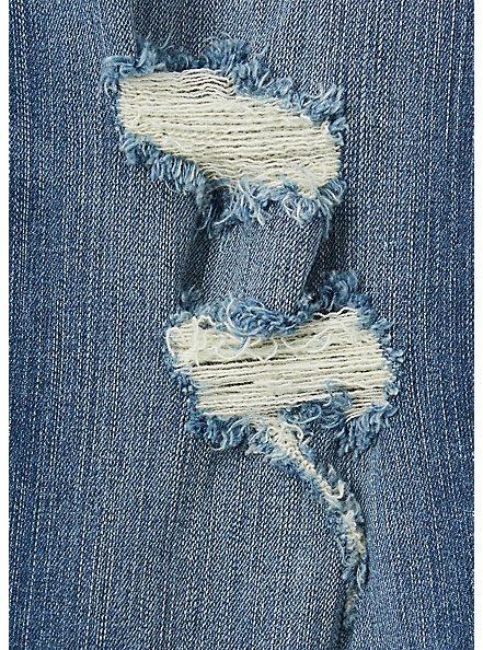 Crop Sky High Skinny Jean - Premium Stretch Medium Wash with Release Hem, BRIGHTON, alternate