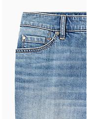 High Rise Short Short - Vintage Stretch Medium Wash, SLOW MOTION, alternate