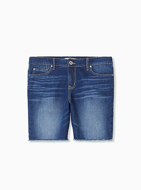 Bermuda Short - Vintage Stretch Medium Wash , , hi-res