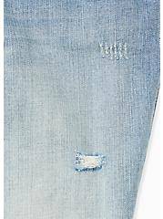 Plus Size Low Rise Bermuda Short - Vintage Stretch Medium Wash, DREAMLOVER, alternate
