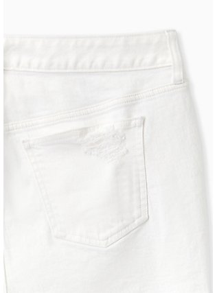 High Rise Short Short - Vintage Stretch White, OPTIC WHITE, alternate