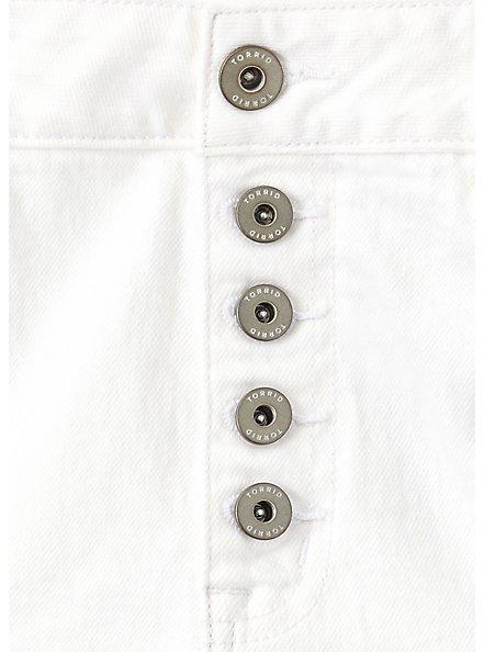 High Rise Short Short - Vintage Stretch White, OPTIC WHITE, alternate