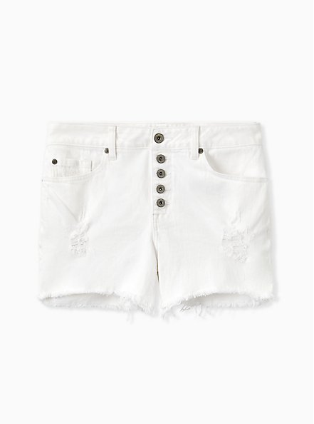 High Rise Short Short - Vintage Stretch White, OPTIC WHITE, hi-res