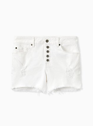 High Rise Short Short - Vintage Stretch White, OPTIC WHITE, hi-res