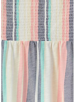 Pastel Stripe Slub Jersey Strapless Babydoll Top , STRIPES, alternate