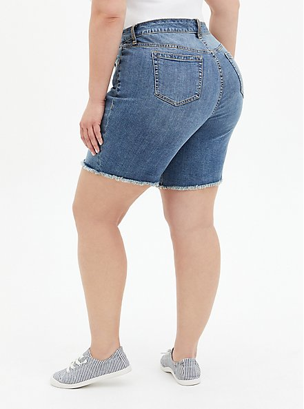 High Rise Bermuda Short - Vintage Stretch Medium Wash , DURANGO, alternate