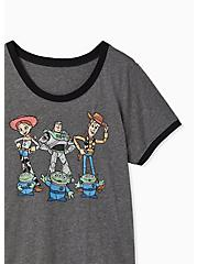 Disney Pixar Toy Story Friends Charcoal Ringer Top, HEATHER GREY, alternate
