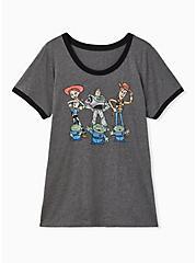 Disney Pixar Toy Story Friends Charcoal Ringer Top, HEATHER GREY, hi-res
