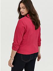 Plus Size Fuchsia Pink Millennium Stretch Cutaway Blazer, PINK PASSION, alternate