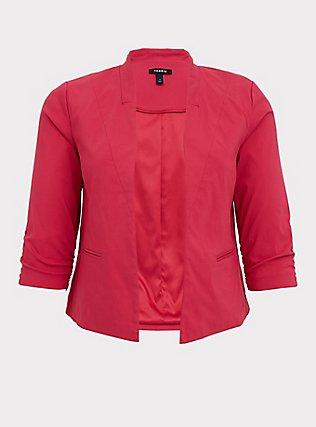 Fuchsia Pink Millennium Stretch Cutaway Blazer, PINK PASSION, flat