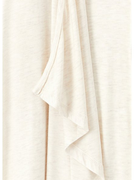Super Soft Oatmeal Drape Front Cardigan, OATMEAL HEATHER, alternate