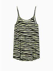 Neon Yellow Zebra Cami Sleep Tunic , MULTI, alternate