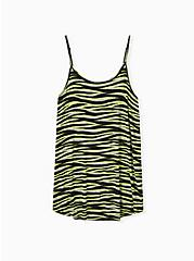 Neon Yellow Zebra Cami Sleep Tunic , MULTI, hi-res