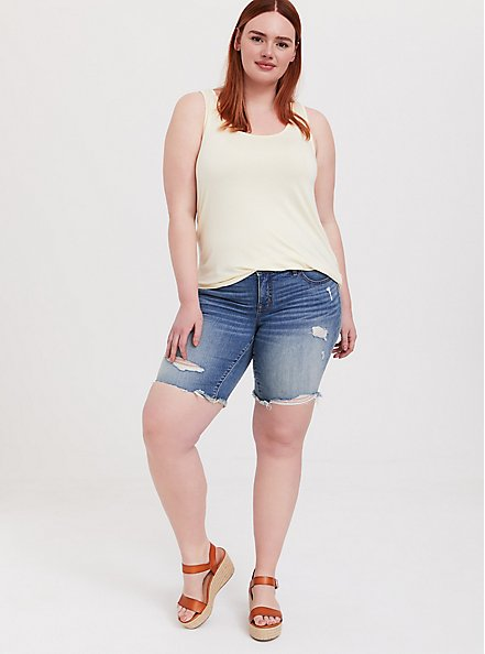 Super Soft Light Yellow Layering Tank, BUTTER YELLOW, alternate