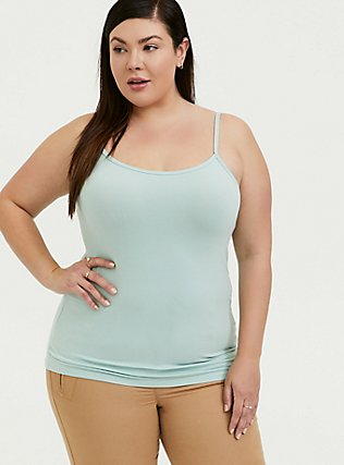 Mint Blue Scoop Neck Foxy Cami, HARBOR GRAY, alternate