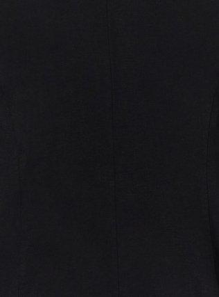 Plus Size Black Linen Blazer, DEEP BLACK, alternate