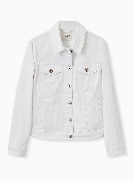 Denim Jacket - White, OPTIC WHITE, hi-res
