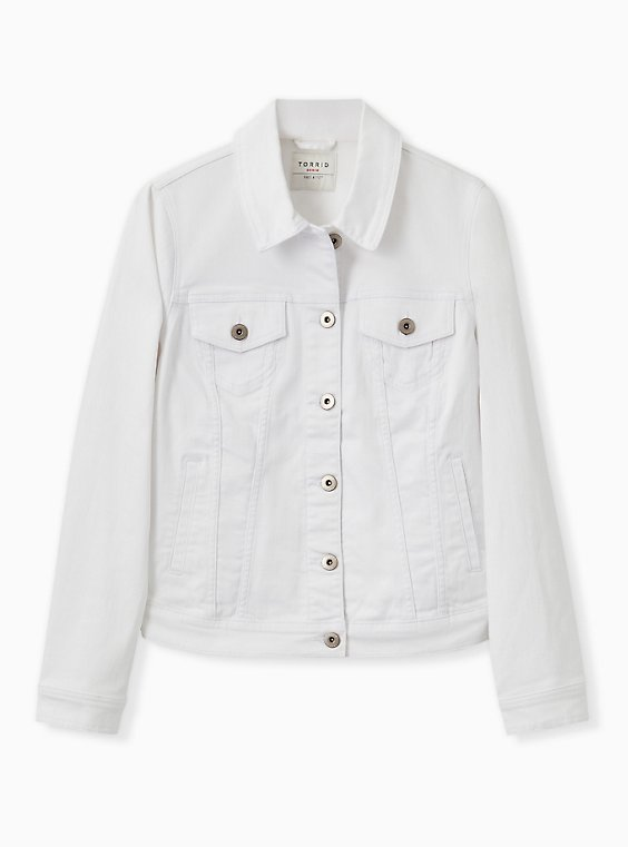 Denim Jacket - White, OPTIC WHITE, hi-res