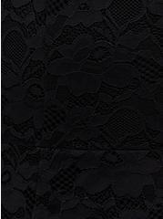 Plus Size Black Lace Fit & Flare Kimono, DEEP BLACK, alternate