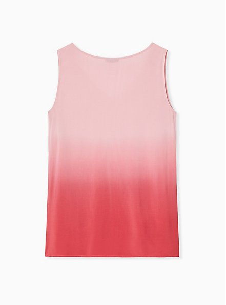 Plus Size Red Dip-Dye Challis Tank , AMERICAN BEAUTY, alternate