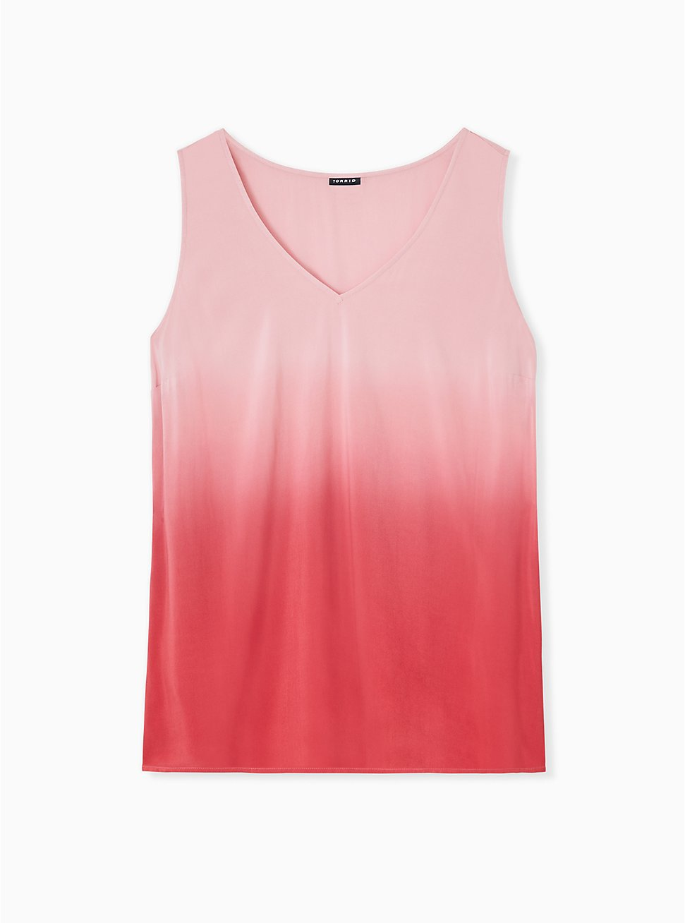 Plus Size Red Dip-Dye Challis Tank , AMERICAN BEAUTY, hi-res