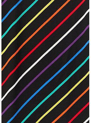 Celebrate Love Black & Rainbow Stripe Essential Cami, STRIPE -BLACK, alternate