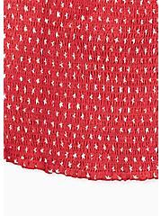 Red Star Challis Smocked Crop Cami  , MULTI, alternate