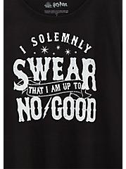 Harry Potter Solemnly Swear Black Crew Tee, DEEP BLACK, alternate