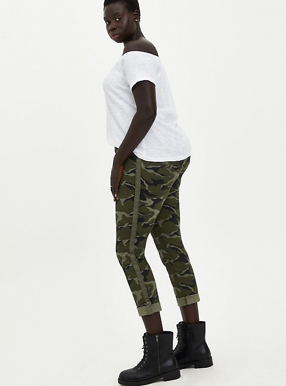Crop Aviator Pant - Twill Camo, , hi-res