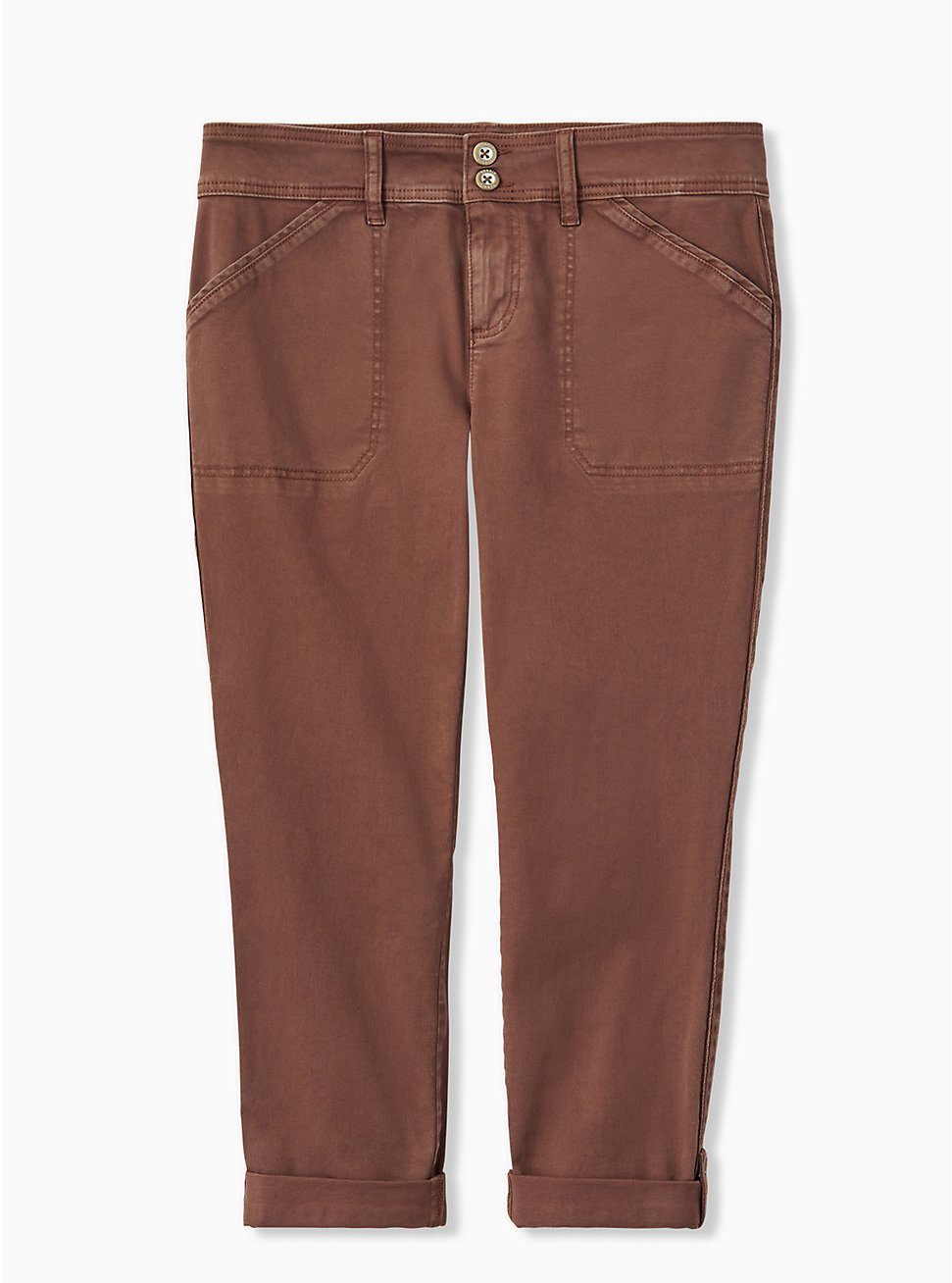 Plus Size Crop Aviator Pant - Twill Dark Taupe, DEEP TAUPE, hi-res