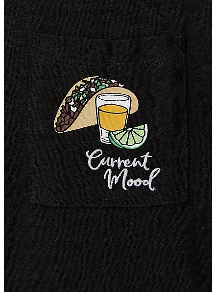 Current Mood Tacos & Tequila Classic Fit Pocket Tee - Heritage Slub Black , DEEP BLACK, alternate