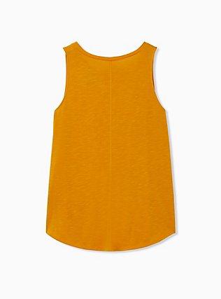 Be Kind Golden Orange Slub Crew Tank, GOLDEN GLOW, alternate