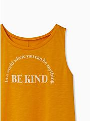 Be Kind Golden Orange Slub Crew Tank, GOLDEN GLOW, alternate