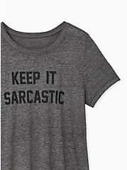 Keep It Sarcastic Heather Grey Crew Tee, MEDIUM HEATHER GREY, alternate