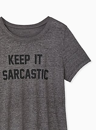 Keep It Sarcastic Heather Grey Crew Tee, MEDIUM HEATHER GREY, alternate