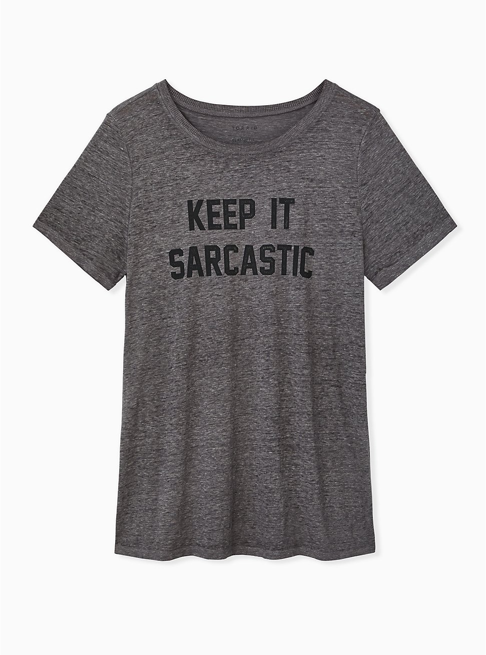Keep It Sarcastic Heather Grey Crew Tee, MEDIUM HEATHER GREY, hi-res