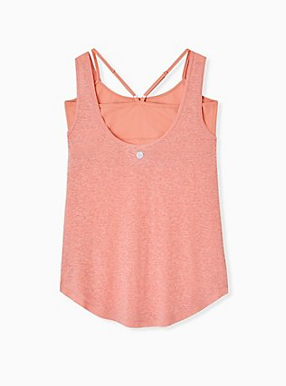 Coral Burnout Wicking 2fer Active Tank, CORAL, alternate