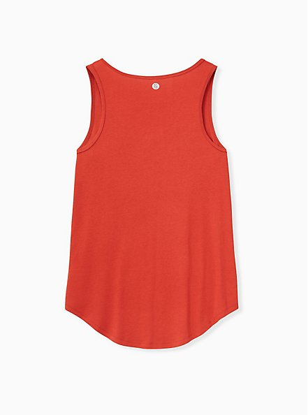Red Terracotta Jersey Wicking Active Tunic Tank, , alternate