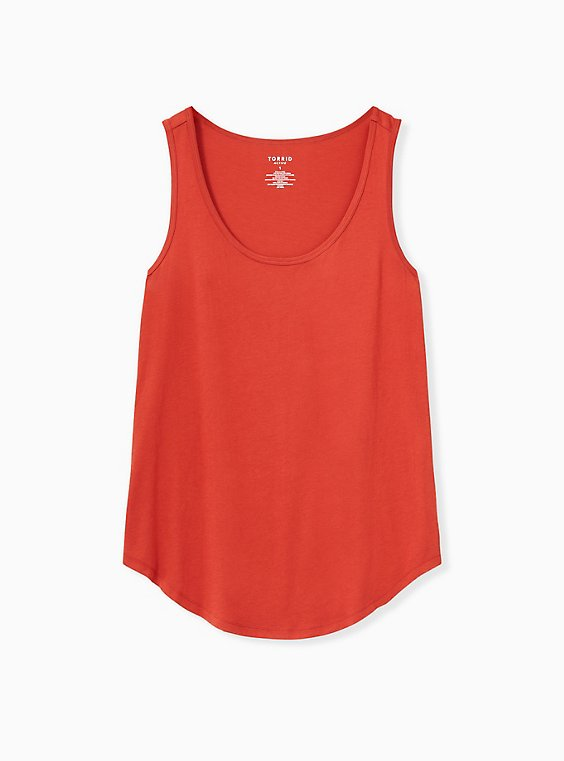 Red Terracotta Jersey Wicking Active Tunic Tank, , hi-res