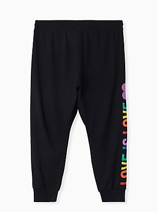 Celebrate Love Is Love Black Terry Crop Active Jogger , DEEP BLACK, alternate