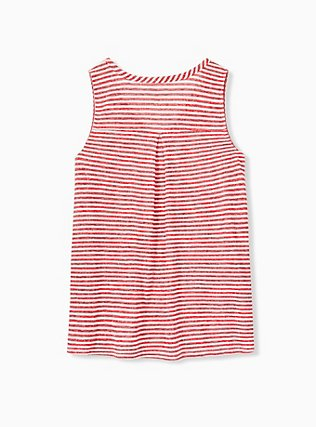 Plus Size Red Stripe Jersey Swing Tank, STRIPE - RED, alternate