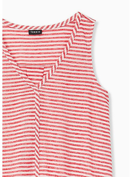 Red Stripe Jersey Swing Tank, STRIPE - RED, alternate
