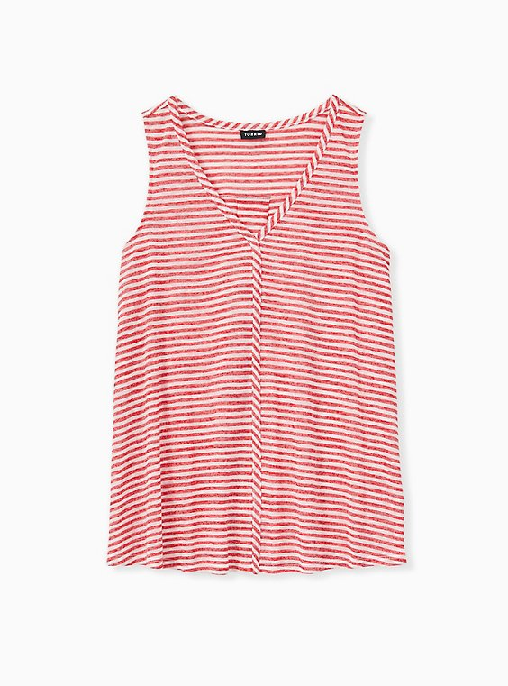 Red Stripe Jersey Swing Tank, , hi-res